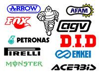 Race Sponsors stickers