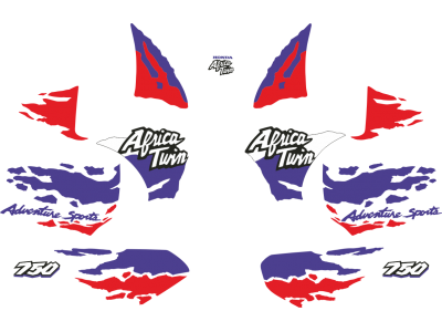 All Cars Symbols With Names >> Africa Twin 1994 set (white red blue) version | Eshop Stickers
