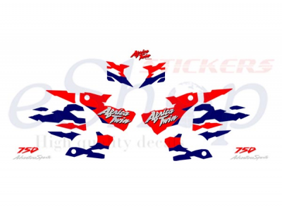 Africa Twin 1995 1998 White Set Eshop Stickers