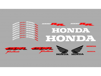 Honda Cbr 1000 Rr Fireblade Set 3 Colors Eshop Stickers