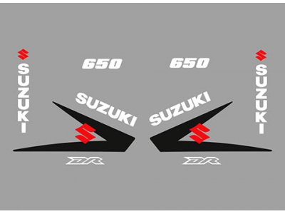 Custom Car Decal >> DR 650 Custom Decals set | Eshop Stickers