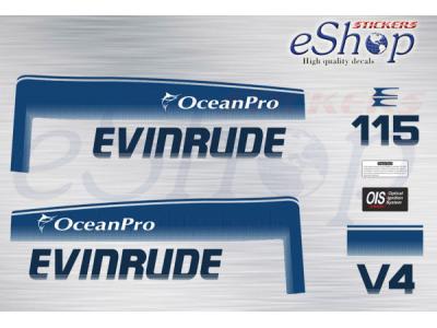 115 Hp Two Stroke Ocean Pro 1993 1998 Set Eshop Stickers