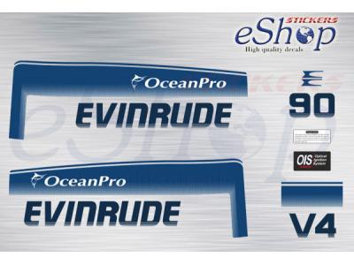 90 Hp two stroke Ocean Pro 1993 1998 set | Eshop Stickers