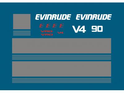 Evinrude 90 Hp V4 VRO Set | Eshop Stickers