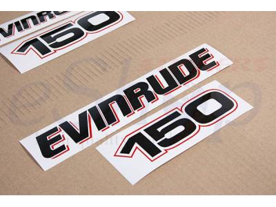 150 Hp E Tec 2004 2009 White Set Eshop Stickers