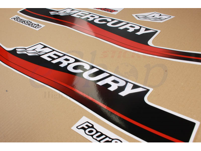 90 Hp Mercury Outboard >> 15 Hp Four Stroke 1999 2006 Red set | Eshop Stickers