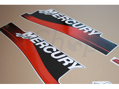 40 Hp Two Stroke 1999 2006 Red Set Eshop Stickers