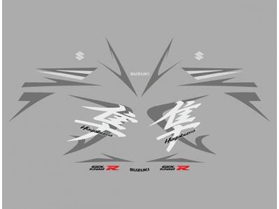 Gsx 1300r Hayabusa 2008 Set Silver Graphite Edition