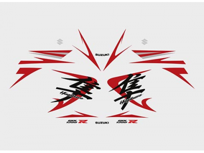 Brand Names Of Cars >> Gsx 1300R Hayabusa 2008 set White - Red edition | Eshop Stickers
