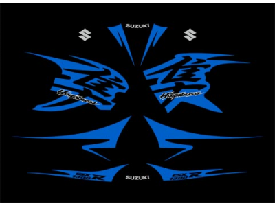 Gsx 1300 Hayabusa 2010 2011 Set Black Blue Eshop Stickers