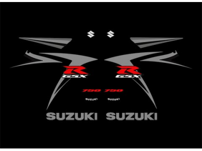 Gsxr 750 K7 2007 Black Ver 2 Set Eshop Stickers