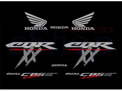 Full custom kit stickers for CBR 1100 XX version 1998/1999