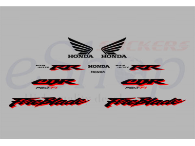 Cbr 900rr 2001 Silver Set Eshop Stickers