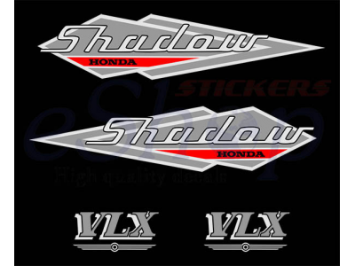 Shadow 600 Vlx 1995 96 Set Eshop Stickers