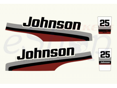 Johnson 25 Hp 1998 Set Eshop Stickers