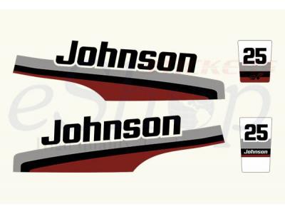 Johnson 25 Hp 1998 Set Eshop Stickers