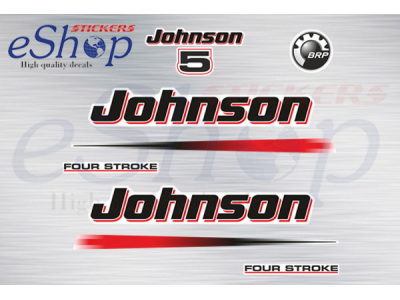 OUTBOARD DECALS FOURSTROKE DECAL SET JOHNSON 5 hp