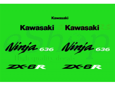 Zx 6r 636 2005 2006 Set 3 Eshop Stickers