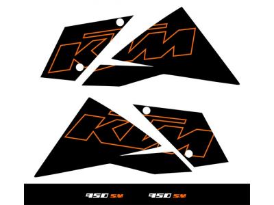 Ktm 950 Sm 2006 2007 Black Set Eshop Stickers
