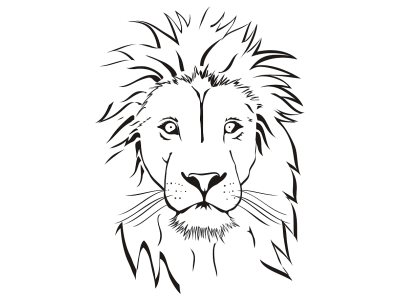 Realistic lion head coloring pages coloring pages for Lion face coloring page