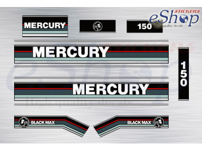 MERCURY OUTBOARD  DECALS BLACKMAX 150hp