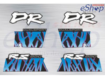 Dr 650 Rse Rs 1992 1993 Black Bike Set Eshop Stickers