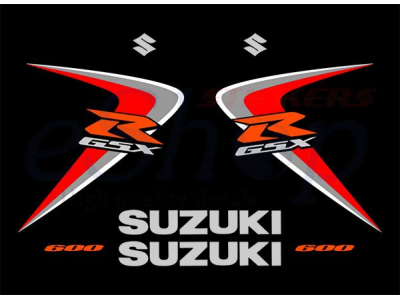 Gsxr 600 K6 2006 Red Set Eshop Stickers