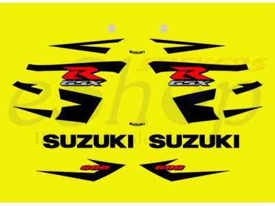 Gsxr 600 2004 K4 Yellow Set Eshop Stickers