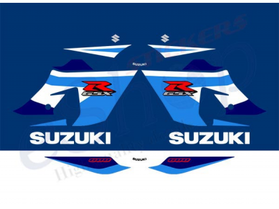 Gsxr 600 K5 2005 Blue Set Eshop Stickers