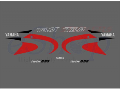 Tdm 850 2000 2001 Red Set Eshop Stickers