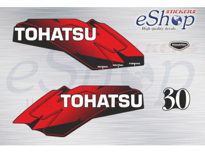 30 Hp two stroke 2002 red set | Eshop Stickers