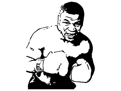 Mike Tyson Stencil Eshop Stickers