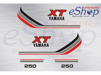 Xt 250 1983 1988 White Set Eshop Stickers