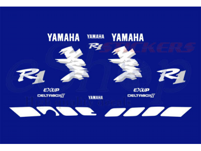 Car Symbols And Names >> YZF R1 1998 Blue set | Eshop Stickers