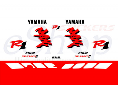 All Cars Symbols With Names >> YZF R1 1998 White Red set | Eshop Stickers