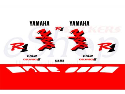 Yzf R1 1998 White Red Set Eshop Stickers
