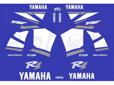 Car Symbols And Names >> YZF R1 2001 Blue set | Eshop Stickers