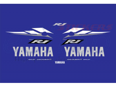 Yzf R1 2003 Blue Set Eshop Stickers