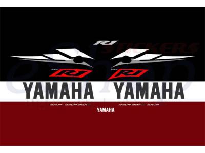 Yzf R1 2003 Red Set Eshop Stickers