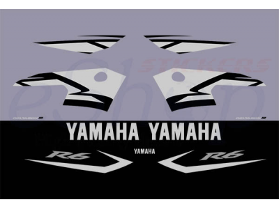 Yzf R6 2004 Black Grey Set Eshop Stickers