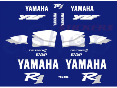 Yzf R1 1999 2000 Blue Set Eshop Stickers