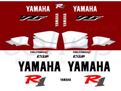 Yzf R1 1999 2000 Red White Set Eshop Stickers